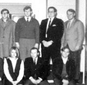 Old black and white photo of faculty
